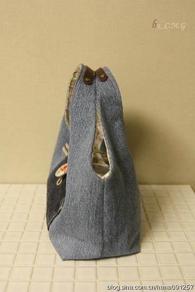 Как сшить сумку из старых джинсов. Фото мастер-класс (3) (400x600, 139Kb)