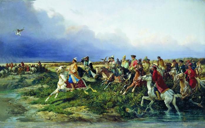 Царь Алексей Михайлович и императрица Екатерина II отдавали предпочтение соколиной охоте, Петр II увлекался псовой...