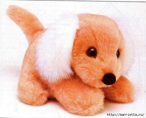 Как сшить игрушку из искусственного меха. Выкройка слоника, собачки и мишки (2) (470x380, 130Kb)