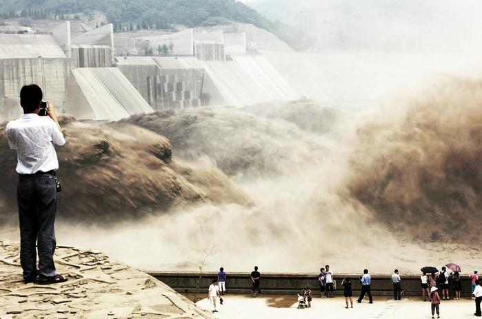 дамба на реке хуанхэ китай (700x463, 220Kb)