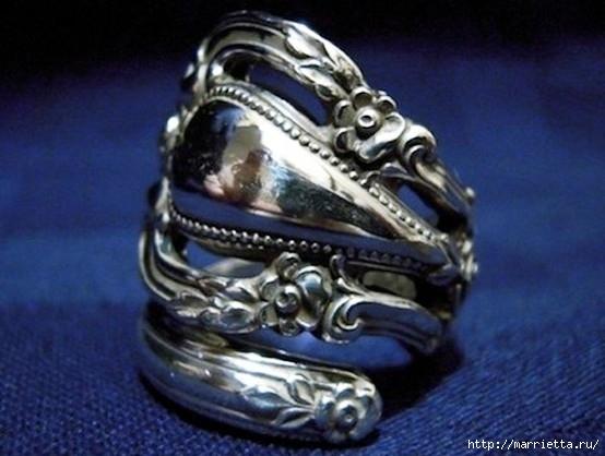 Как сделать кольцо из серебряной ложки (14) (554x418, 133Kb)