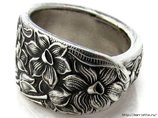 Как сделать кольцо из серебряной ложки (18) (554x413, 138Kb)