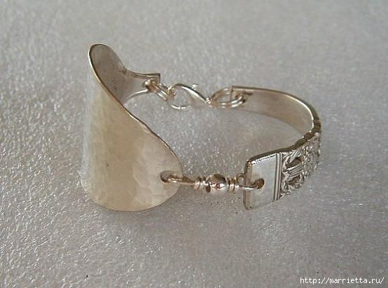 Как сделать кольцо из серебряной ложки (20) (554x411, 138Kb)