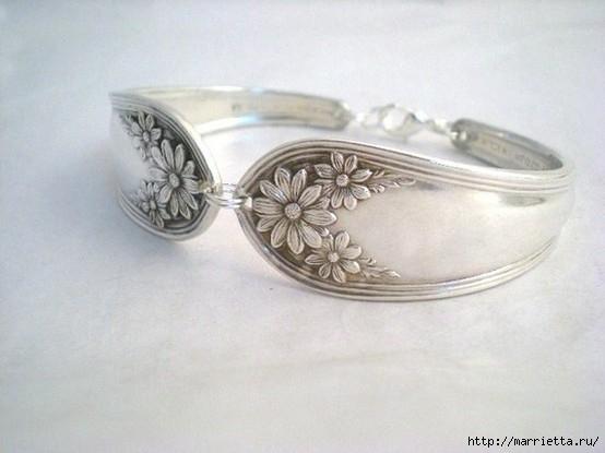Как сделать кольцо из серебряной ложки (22) (554x415, 107Kb)