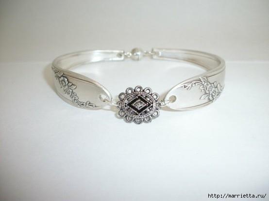 Как сделать кольцо из серебряной ложки (25) (554x415, 71Kb)