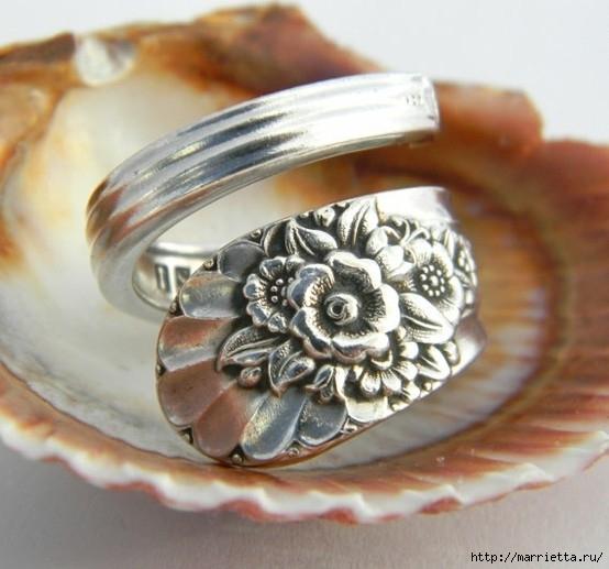 Как сделать кольцо из серебряной ложки (29) (554x517, 153Kb)