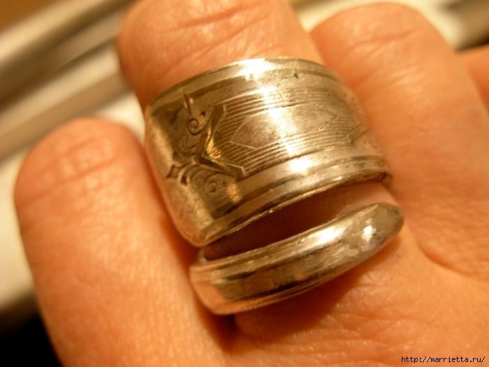 Как сделать кольцо из серебряной ложки (42) (700x525, 221Kb)