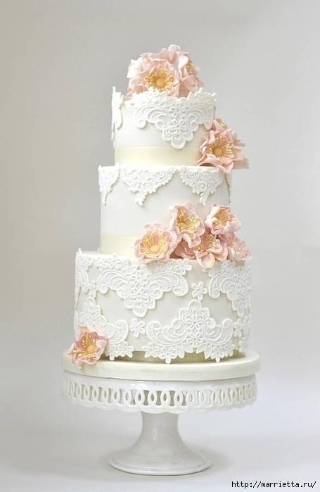 Lo más hermoso pastel de boda (2) (455x700, 134Kb)
