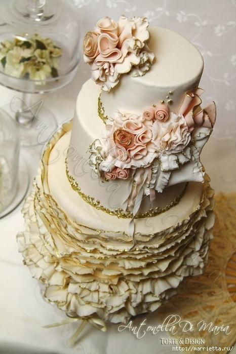 El más hermoso pastel de bodas (30) (466x700, 236Kb)
