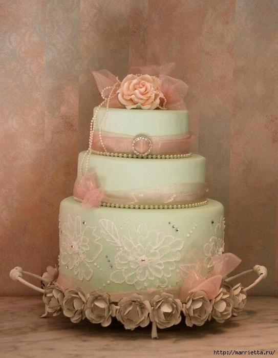 El más hermoso pastel de bodas (50) (543x700, 229Kb)