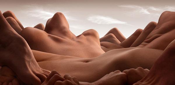 Карл Уорнер. Пейзажи из человеческих тел