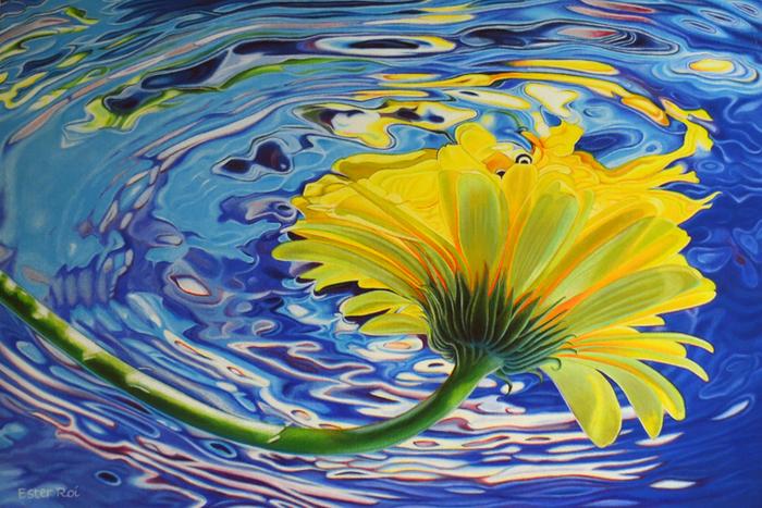 Цветы из воды