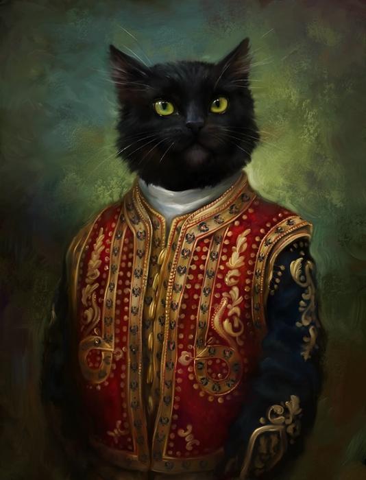 портреты кошек Эльдар Закиров (534x700, 223Kb)