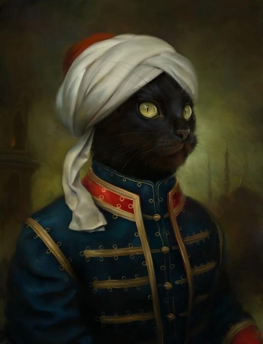 портреты кошек Эльдар Закиров 2 (534x700, 162Kb)