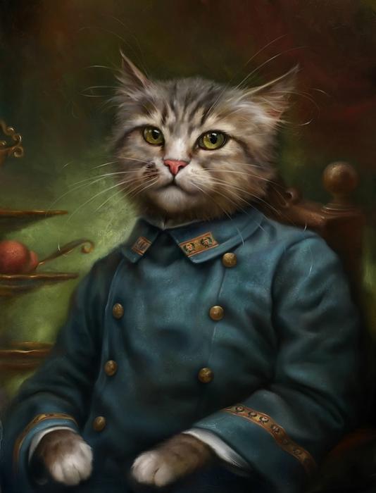 портреты кошек Эльдар Закиров 4 (534x700, 191Kb)