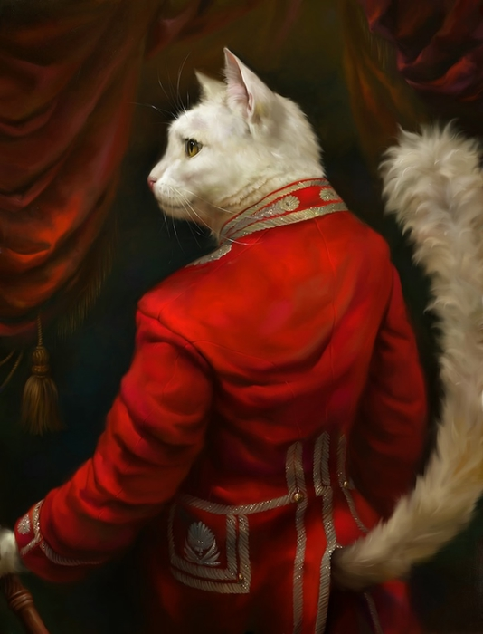 портреты кошек Эльдар Закиров 5 (534x700, 176Kb)