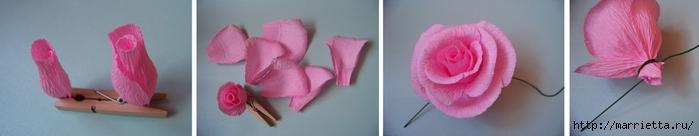 Цветы из бумаги  из гофрированной бумаги розы пошаговая инструкция