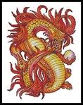 """Оригинал схемы вышивки  """"красный китайский дракон """". красный китайский дракон, китай,дракон, оригинал."""