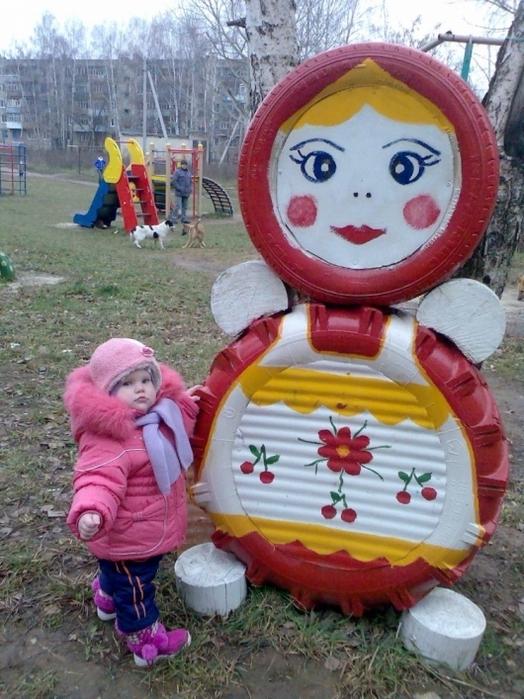 Звери для детской площадки своими руками