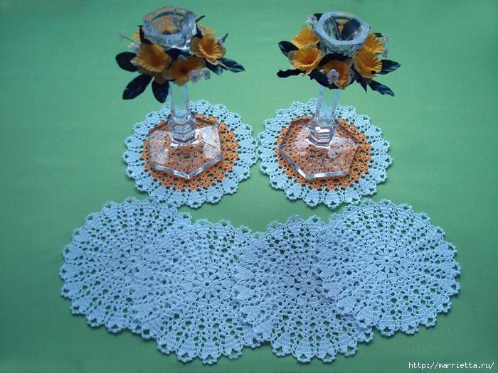 Ажурные салфетки крючком. Две схемы (11) (700x525, 352Kb)
