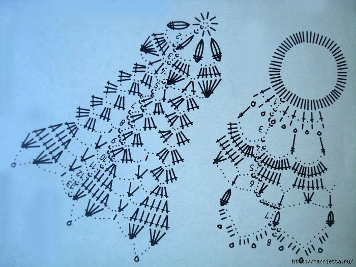 Ажурные салфетки крючком. Две схемы (12) (700x525, 331Kb)