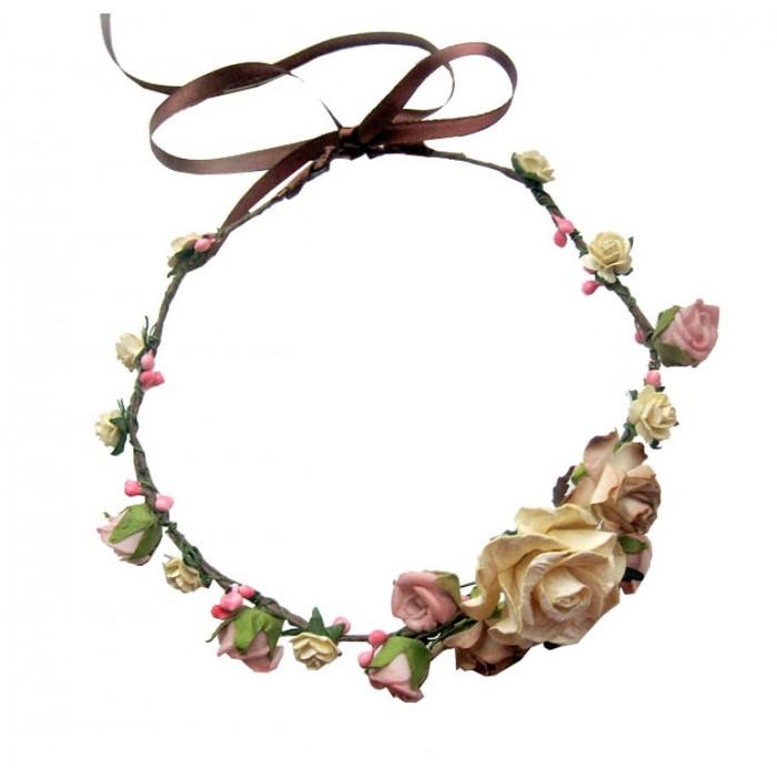 Фото венки из цветов на голову своими руками 406
