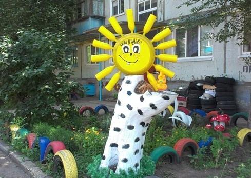 Детская площадка из подручных материалов: идеи