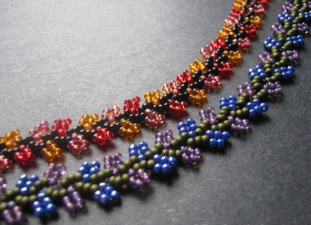 Плетение.  Как плести из бисера браслеты для начинающих и опытных.  Уроки, основы бисероплетения - Biserok.org...