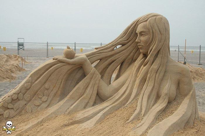 Карл Хара. Бесконечная скульптура из песка