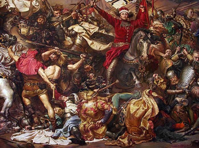 """Работа была заказана Польшей к юбилею Грюнвальдской битвы и... Kulakov & Papirna/  """"Грюневальдская битва """" / фрагмент."""