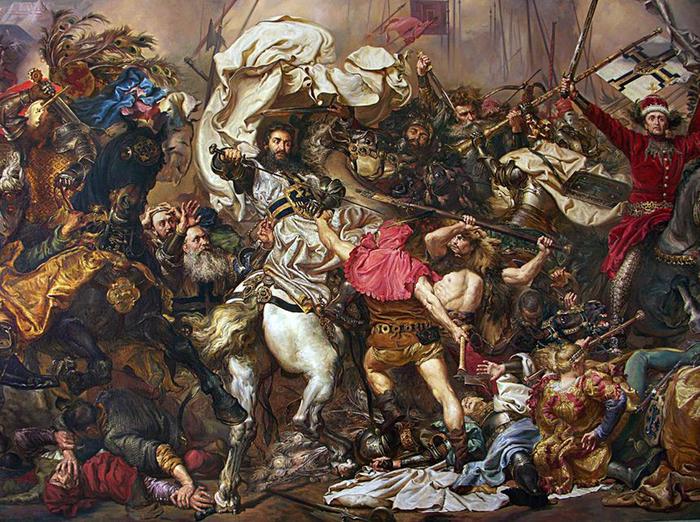 Копия картины я. матэйко грюнвальдская битва.