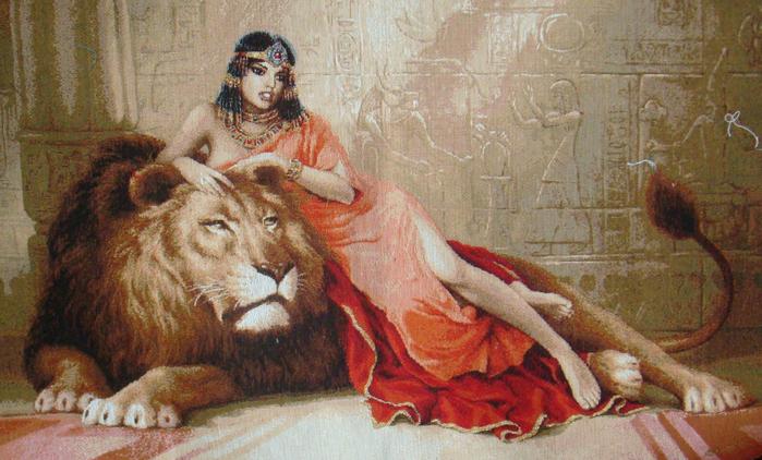 Схема вышивки клеопатра и лев