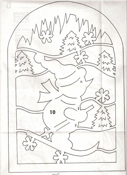 hóember síel (436x600, 200Kb)