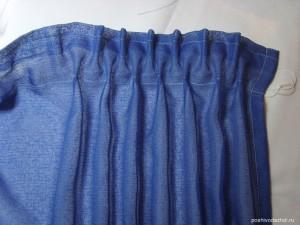 Утюжим штору, собираем ленту на нужную ширину.