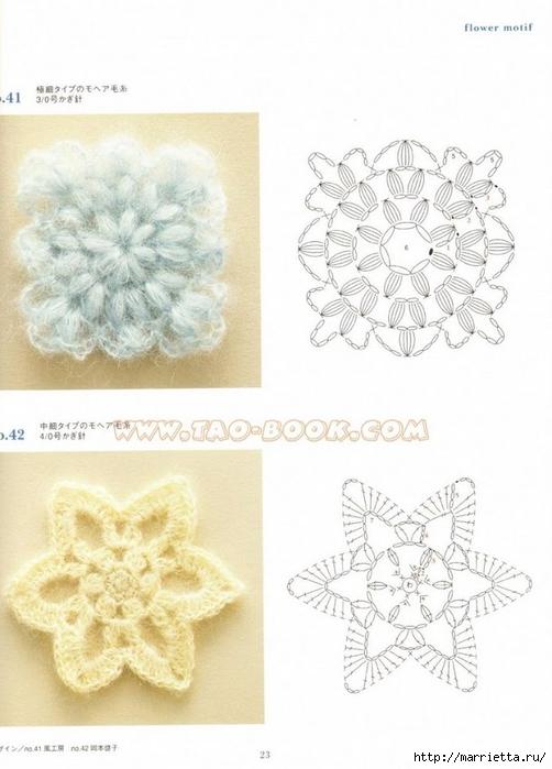 Вязание крючком. Много цветов, фрагментов и узоров со ...: http://www.liveinternet.ru/users/s200170/post392786874/