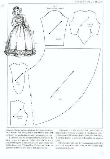 Платье в стиле 19 века выкройка