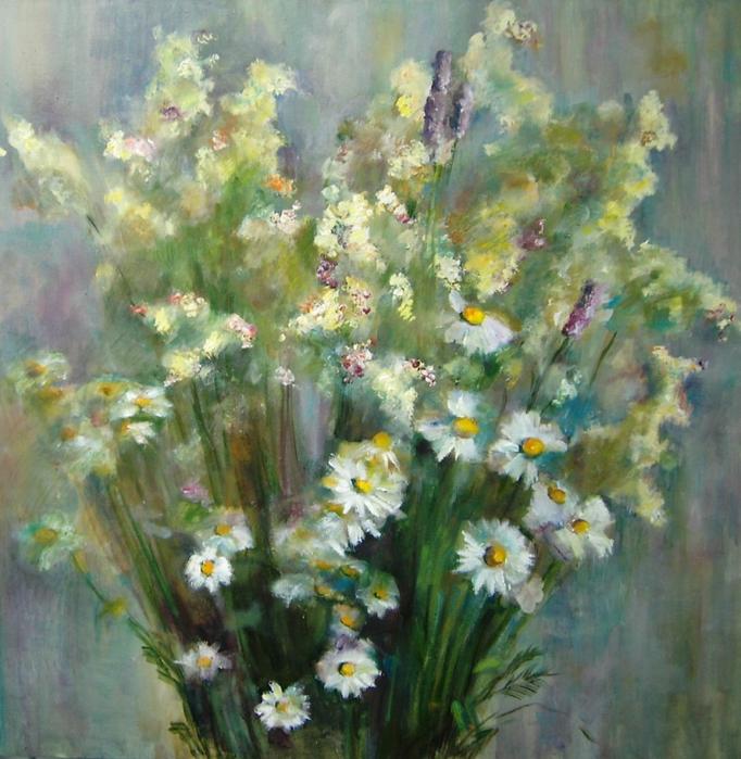Полевые цветы в живописи картинки 6