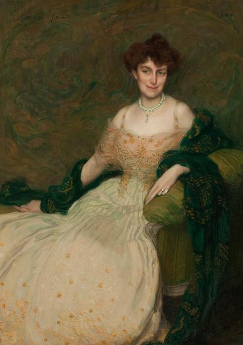 Edmond-François Aman-Jean Portrait of Mrs. Albert Herter (493x700, 236Kb)