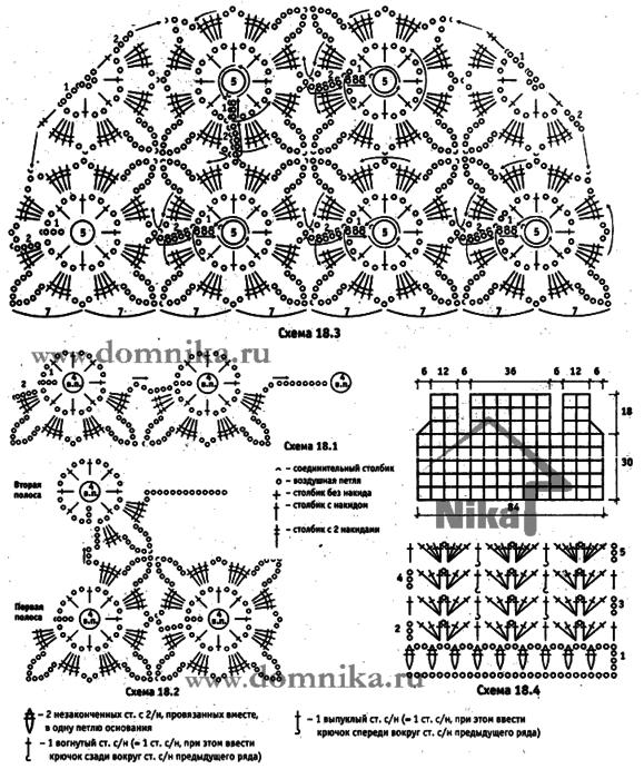 Безотрывное вязание крючком схемы описание
