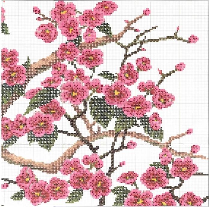 Stitchart-Apricot-tree2 (700x689, 424Kb)