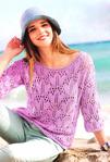 Красивый цвет, благородная пряжа из кашемира и вискозы, и филигранный узор - вот составляющие великолепного пуловера...