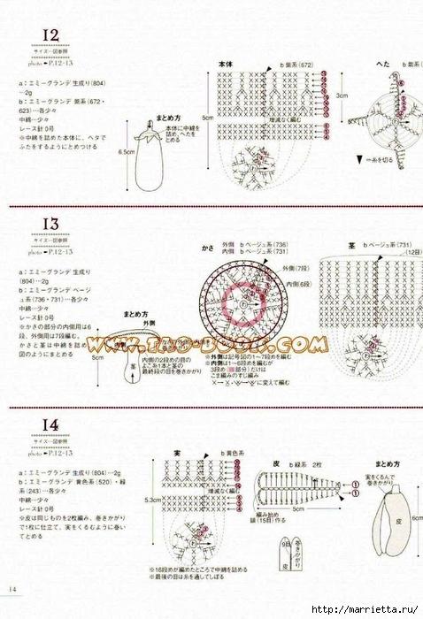 Цветочки, ягоды-фрукты, игрушки и другие мотивы крючком (12) (478x700, 249Kb)