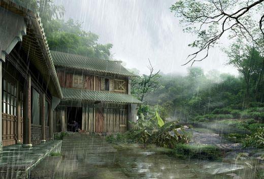 Дождь в Японии