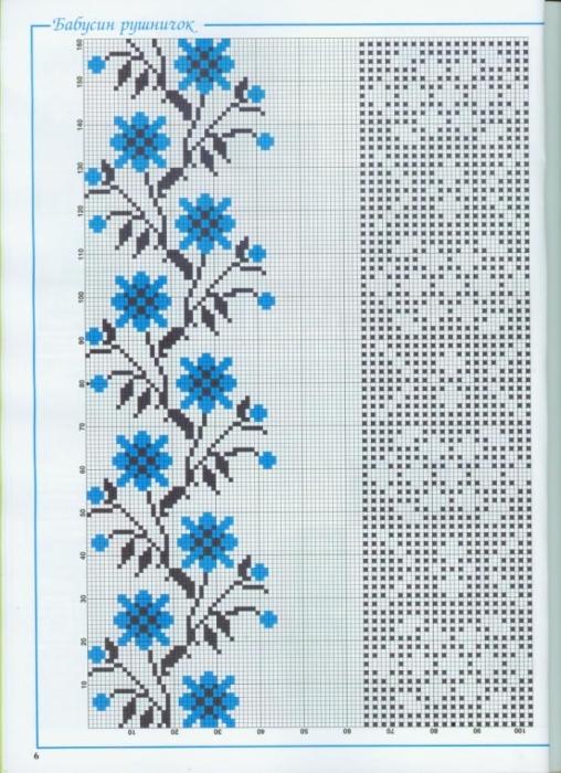 Приложение схема вышивки крестом