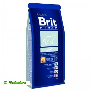 Корм сухой для собак Brit Care 132339 Premium Light лечебный 15 кг (300x300, 15Kb)