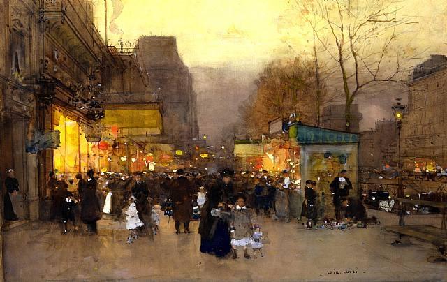 Luigi Loir - Les baraques du jour de l'An, Paris, Porte Saint Martin (1890) (640x404, 177Kb)