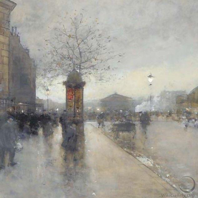 Уличная сцена, Париж (634x633, 147Kb)