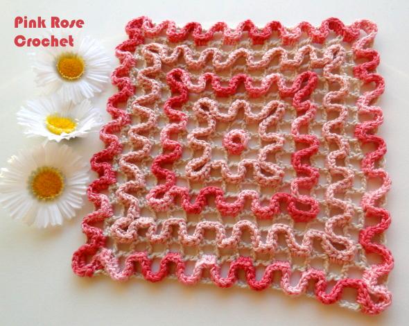 Pega Panelas Croche Rosa Ondulado 02 Crochet Wiggly Pot Holders (590x470, 494Kb)