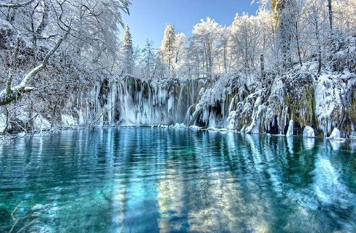 Плитвицкие-озера-зимой (700x457, 447Kb)
