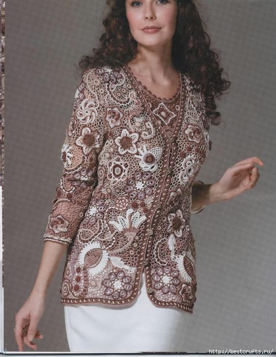 Вязание крючком. Журнал Мод 566. Отличные летние модели (6) (542x700, 322Kb)
